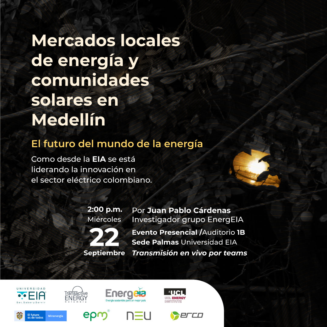 Evento Transactive Energy: mercados locales - EIA