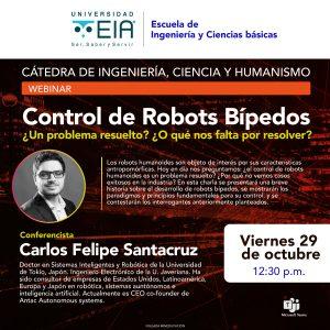 Charla: Control de Robots Bípedos
