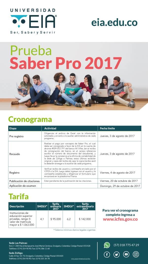 pruebas saber pro 2017 ecard