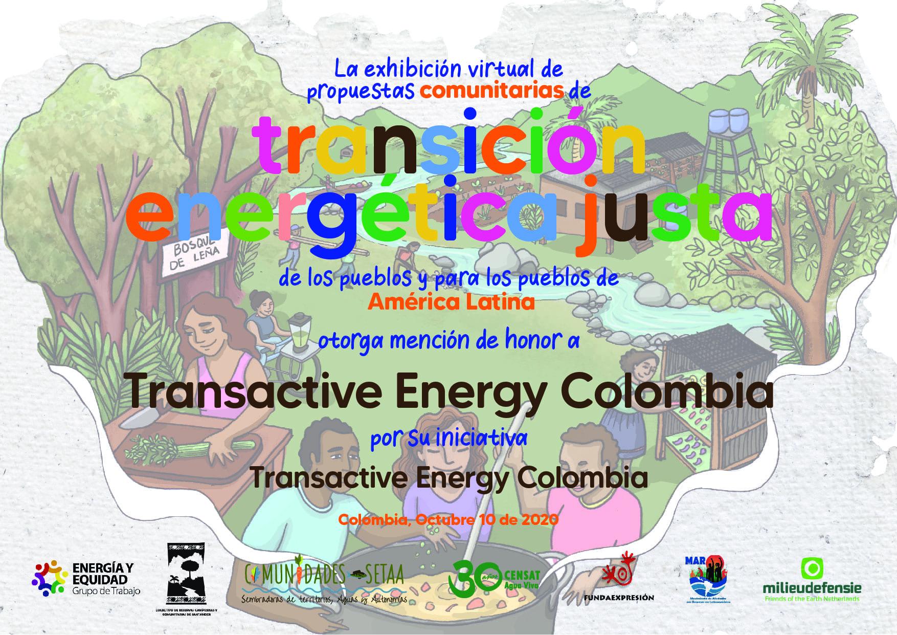 Mención de honor a proyecto energético de la EIA